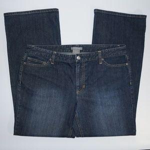 ANN TAYLOR Slim Fit Straight Leg Mid Rise jeans 16